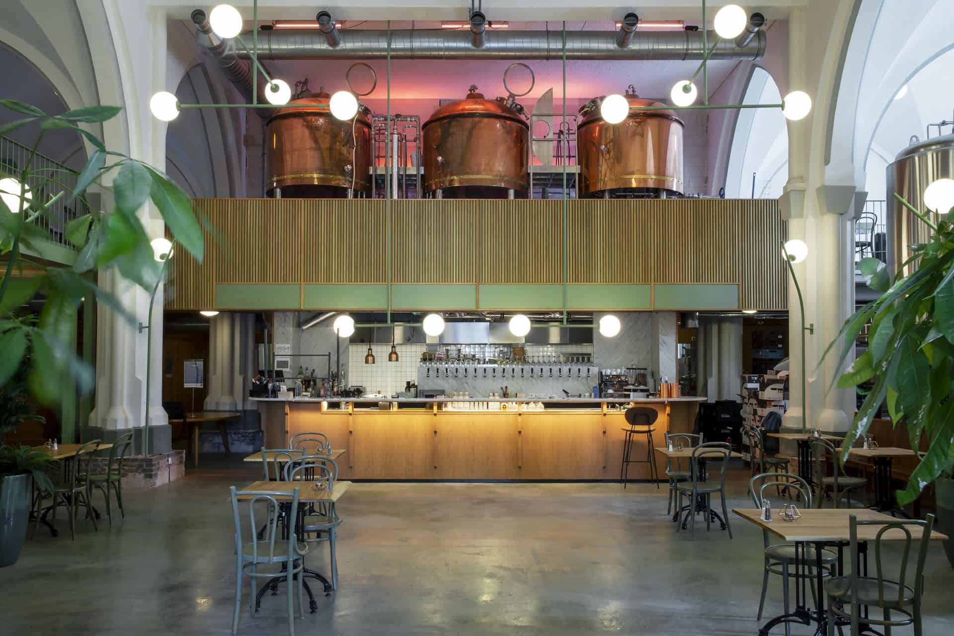 gevlinderde betonvloer, Bierbrouwerijvloer
